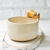 """Посуда ручной работы. Ярмарка Мастеров - ручная работа Пиала / салатник """"Лиса"""". Handmade."""