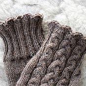 Аксессуары handmade. Livemaster - original item knitted mittens, mittens with braids, buy mittens, woolen mittens. Handmade.