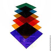 Материалы ручной работы. Ярмарка Мастеров - ручная работа Набор цветного стекла. Handmade.