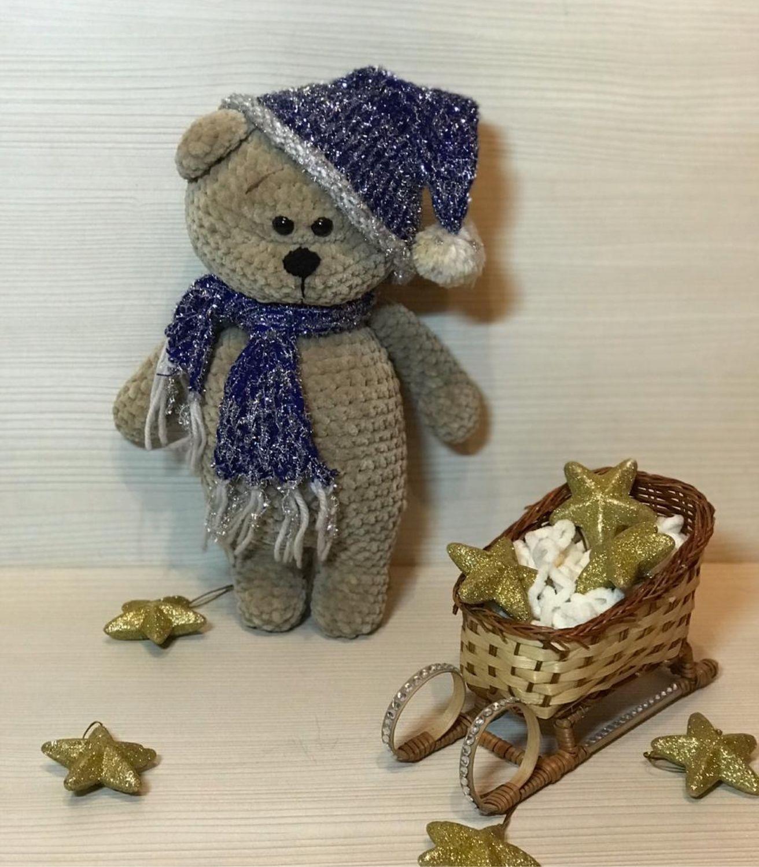 Вязаный мишка Мишутка, Мягкие игрушки, Жуковский,  Фото №1