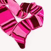 """Аксессуары ручной работы. Ярмарка Мастеров - ручная работа Шарф """"Розовый полосатик"""". Handmade."""