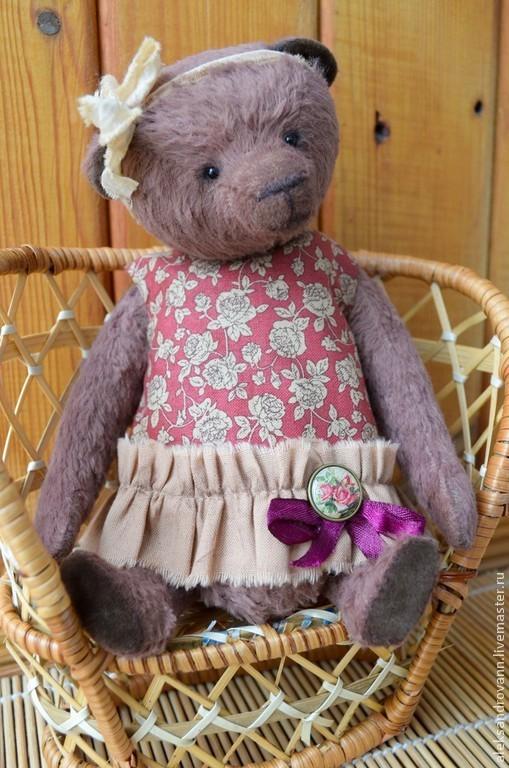Мишки Тедди ручной работы. Ярмарка Мастеров - ручная работа. Купить Тедди мишка Анжелика. Handmade. Коричневый, подарок девушке