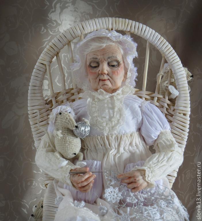Авторская кукла. Снежное кружево бабушки Зимы, Куклы, Минск, Фото №1