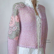Одежда handmade. Livemaster - original item Knitted cardigan in pink and purple colors. Handmade.