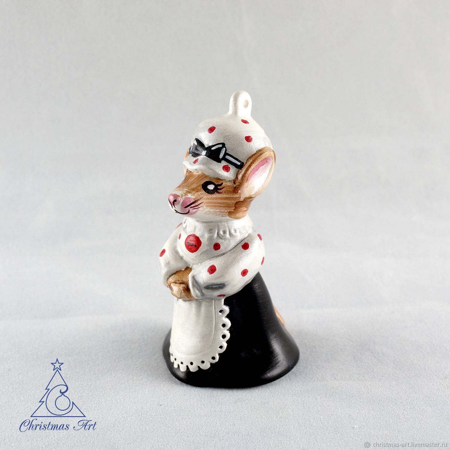 Christmas toy, Christmas toy mouse, porcelain toy, Decoration, Moscow, Фото №1