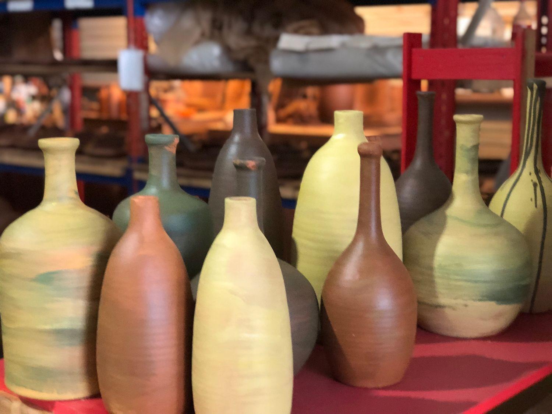 Бутылки керамические декоративные