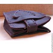 Сумки и аксессуары handmade. Livemaster - original item Housekeeper leather coffee color. Handmade.
