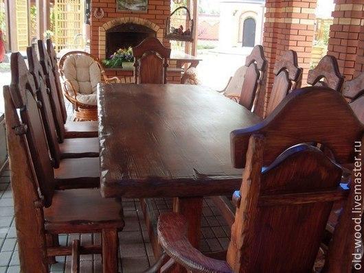 Набор мебели,из 11 предметов,состаренная сосна,цвет ,размеры все по желанию заказчика .Возможна покупка по отдельности,цена договорная