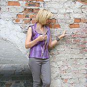 """Одежда ручной работы. Ярмарка Мастеров - ручная работа Жилет валяный """"Оттенки фиолетового"""". Handmade."""