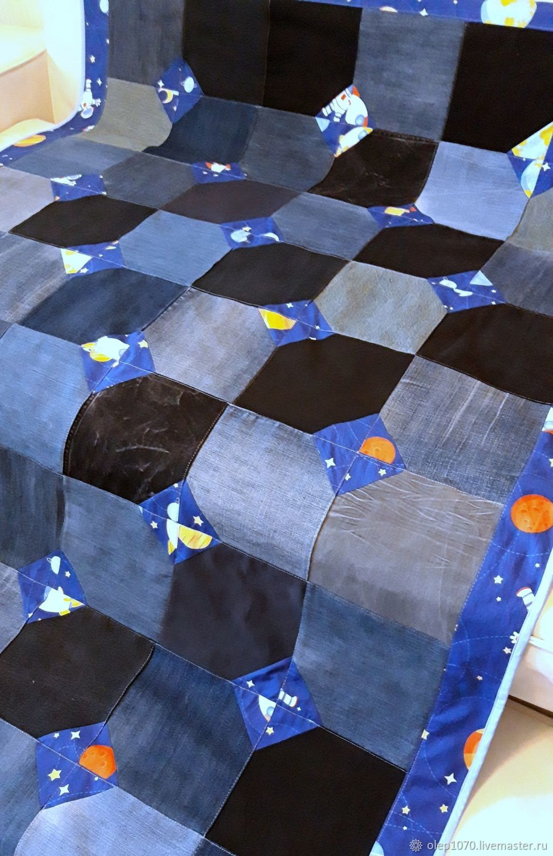 Denim bedspread Space, Bedspreads, Moscow,  Фото №1