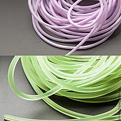 Материалы для творчества ручной работы. Ярмарка Мастеров - ручная работа Шнур силиконовый зеленый и розовый квадратного сечения 3 и 2 мм. Handmade.