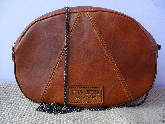 Женские сумки ручной работы. Ярмарка Мастеров - ручная работа. Купить Сумочка рыжая из натуральной кожи WILD THING. Handmade.