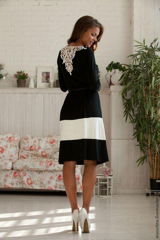 """Платья ручной работы. Ярмарка Мастеров - ручная работа. Купить Платье """"Кружевa"""". Handmade. Чёрно-белый, нарядное платье"""
