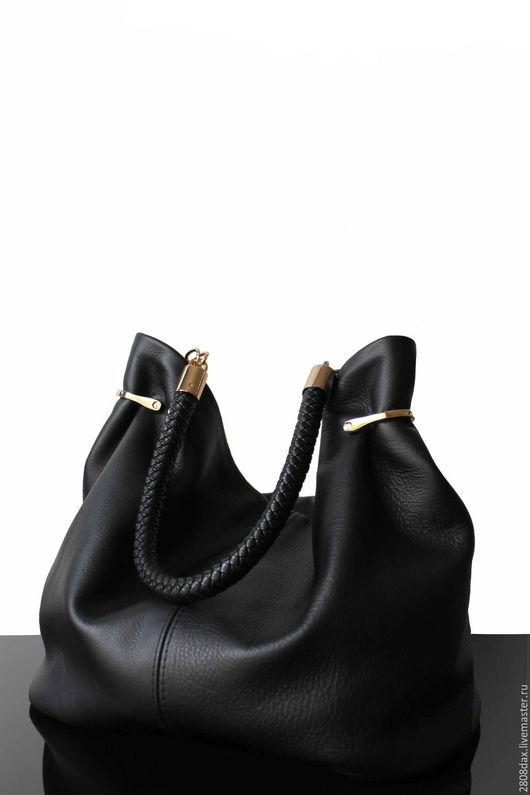"""Женские сумки ручной работы. Ярмарка Мастеров - ручная работа. Купить """"Granville черный"""" кожаная сумка, сумка из кожи, черная сумка, Пони. Handmade."""