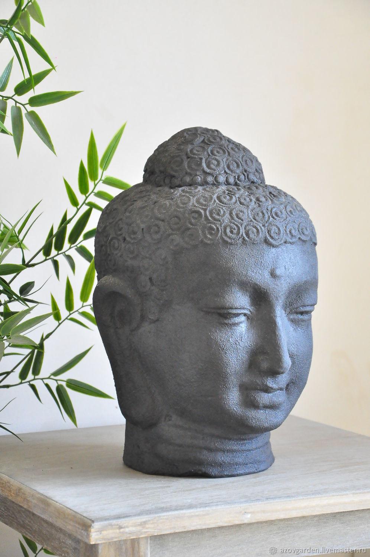 Статуэтка садовая голова Будды  для дома и сада, Фигуры садовые, Азов,  Фото №1