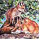 Животные ручной работы. Ярмарка Мастеров - ручная работа. Купить ЛИСЫ. Handmade. Рыжий, оранжевый, тень, лес, лето