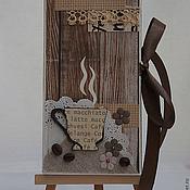 """Открытки ручной работы. Ярмарка Мастеров - ручная работа Открытка-шоколадница """"Кофейная""""-2.. Handmade."""