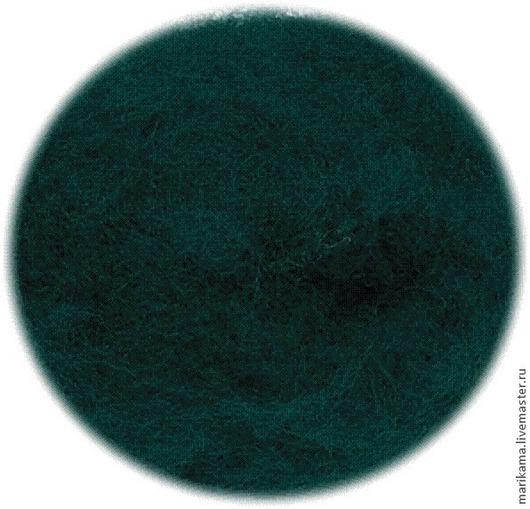 """Валяние ручной работы. Ярмарка Мастеров - ручная работа. Купить Бергшаф 100г """"Синевато-зеленый"""" (кардочес 29-30 микрон). Handmade."""