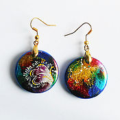 Украшения handmade. Livemaster - original item Jewelry design earrings for girls mismatched asymmetric. Handmade.