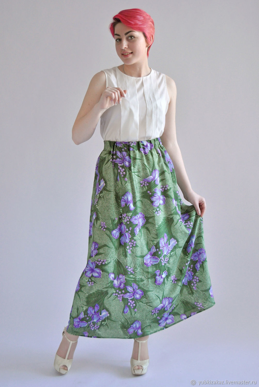 Skirt made of natural silk