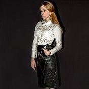 Одежда handmade. Livemaster - original item Pencil skirt leather Lola. Handmade.