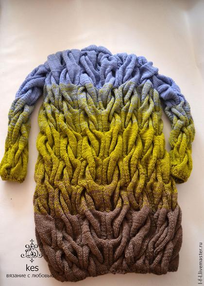 плавные переходы цвета при вязании руками и на машине