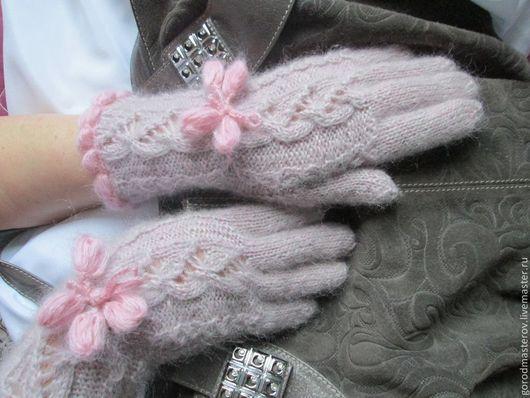 Варежки, митенки, перчатки ручной работы. Ярмарка Мастеров - ручная работа. Купить Перчатки по мотивам   Зайчик серенький. Handmade.