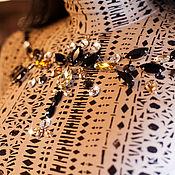 Платья ручной работы. Ярмарка Мастеров - ручная работа Платье из трикотажа Грация вышивка камнями. Handmade.