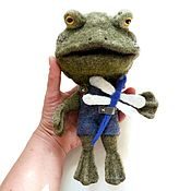 Felted Toy handmade. Livemaster - original item Toad or Frog ;), felted toy.. Handmade.