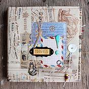 Канцелярские товары ручной работы. Ярмарка Мастеров - ручная работа Альбом для путешественника. Handmade.