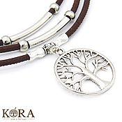 Украшения handmade. Livemaster - original item Necklace of cork tree of life handmade C0020b. Handmade.