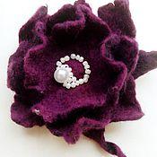 Украшения handmade. Livemaster - original item Felted brooch-flower. Handmade.