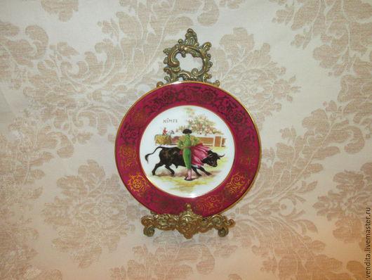 """Винтажные предметы интерьера. Ярмарка Мастеров - ручная работа. Купить панно -"""" Limoges"""" Франция. Handmade. Разноцветный, для интерьера гостиной"""