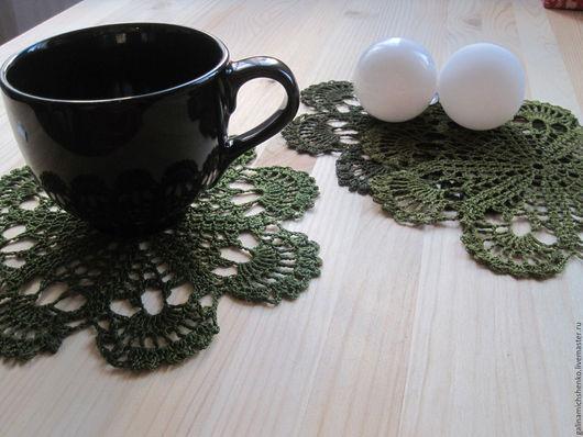 Текстиль, ковры ручной работы. Ярмарка Мастеров - ручная работа. Купить Салфетка № 183 (набор подставок). Handmade.