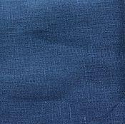 Материалы для творчества ручной работы. Ярмарка Мастеров - ручная работа Лён 100%. Синий джинс.. Handmade.
