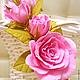 Ободок с розами, свадебный ободок, ободок с розами для девочки, украшение для волос, цветы из фоамирана