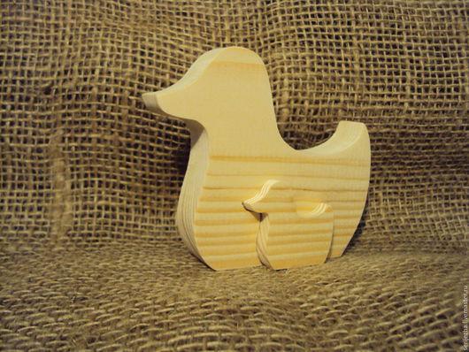 Пазл Уточка с утёнком, деревянная игрушка ручной работы