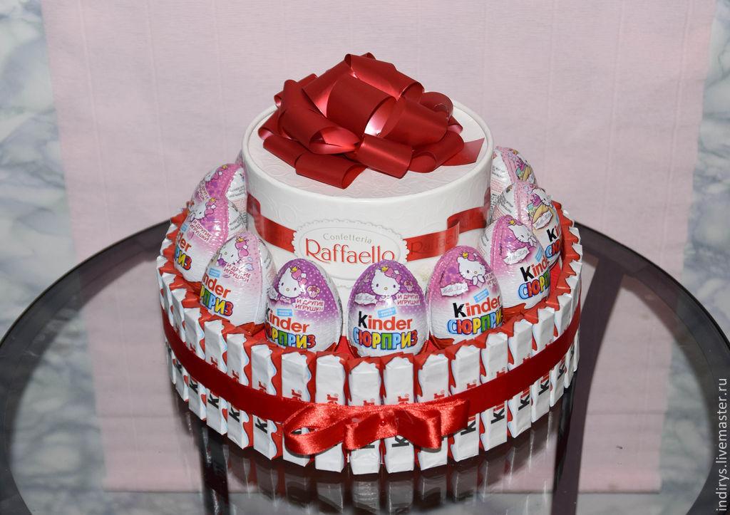 Торт из рафаэлло и киндеров