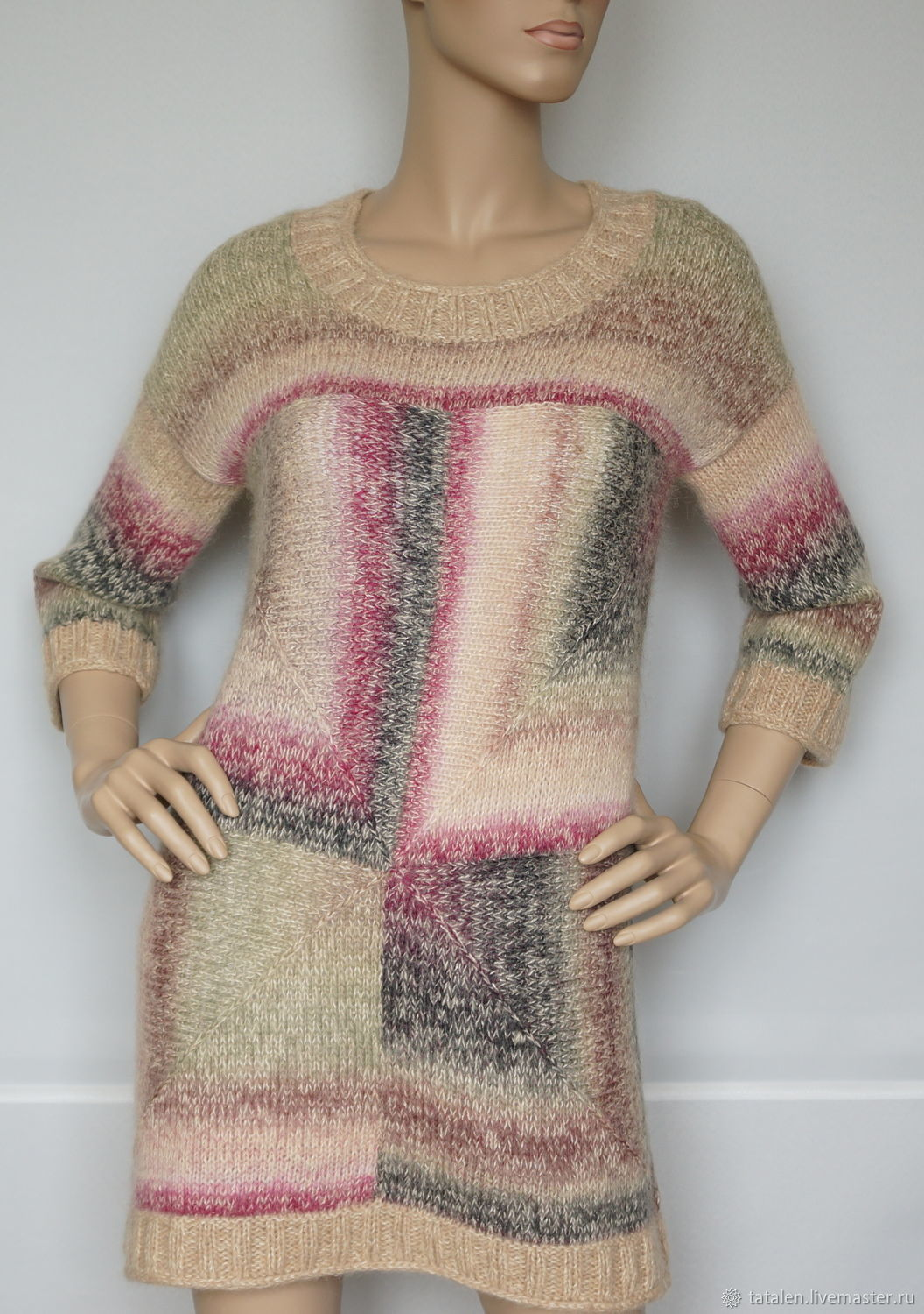 Jumper knitted silk-baby Alpaca 'Cleo', Jumpers, Moscow,  Фото №1