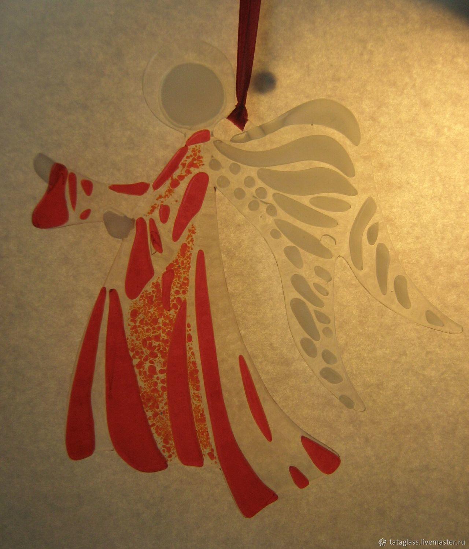 Pendant Guardian Angel Fusing Glass Shop Online On Livemaster