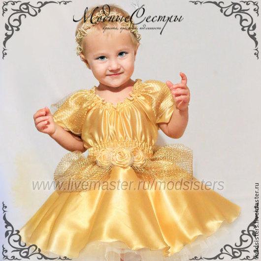 """Одежда для девочек, ручной работы. Ярмарка Мастеров - ручная работа. Купить Детское платье """"Золотая принцесса"""" Арт.179. Handmade."""