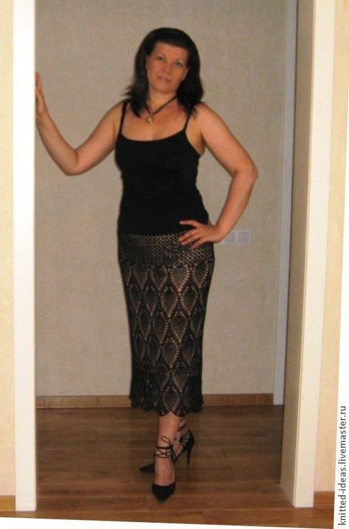 Юбки ручной работы. Ярмарка Мастеров - ручная работа. Купить юбка вечерняя. Handmade. Черный, Вязание крючком, ажурная юбка