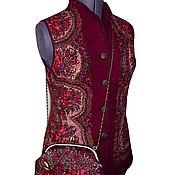 """Одежда ручной работы. Ярмарка Мастеров - ручная работа Валяный жилет """"Бордо"""" нуновойлок. Handmade."""