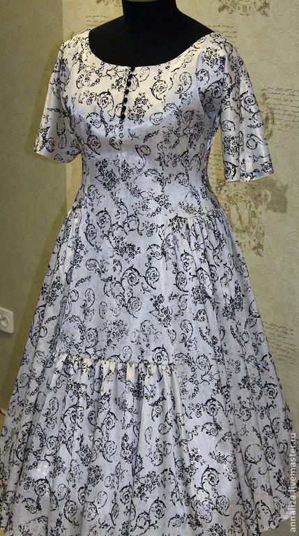 """Платья ручной работы. Ярмарка Мастеров - ручная работа. Купить Ретро платье в стиле 50-х """"Императрица"""". Handmade. Ретро"""