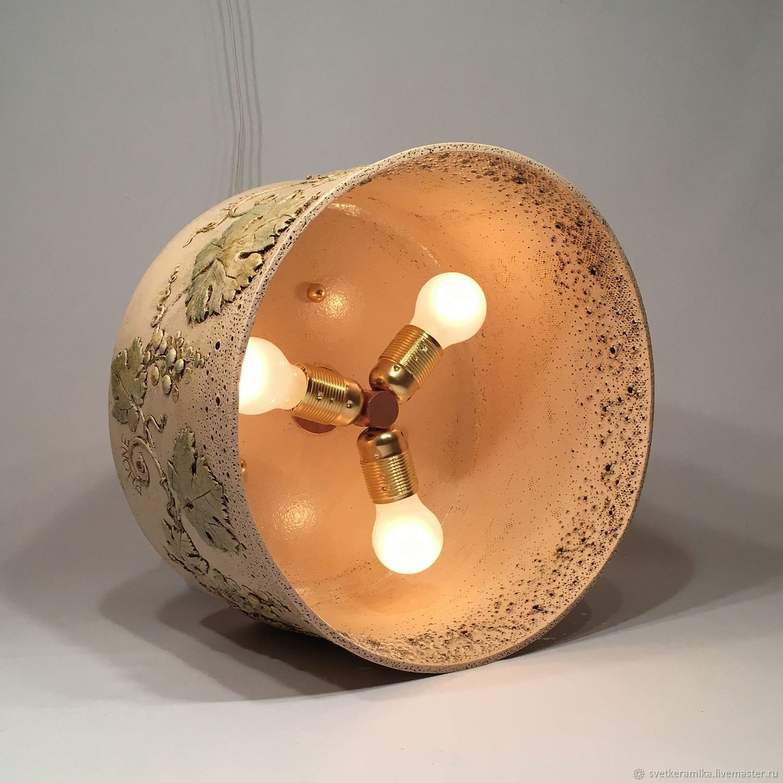 Ceramic chandelier with three lamps grapes shop online on ceramic chandelier with three lamps grapes light ceramics rus arubaitofo Image collections