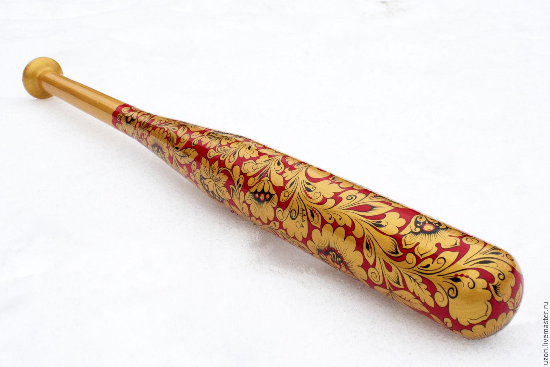 Бита бейсбольная с ручной росписью, Приколы, Домодедово,  Фото №1