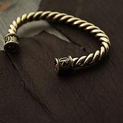 Украшения handmade. Livemaster - original item Bronze bracelet rune bracelet Viking. Handmade.