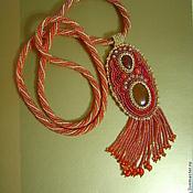 Украшения handmade. Livemaster - original item Pendant, pendant on beaded rope. Handmade.