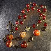 Украшения handmade. Livemaster - original item Necklace with fire agate and carnelian. Handmade.