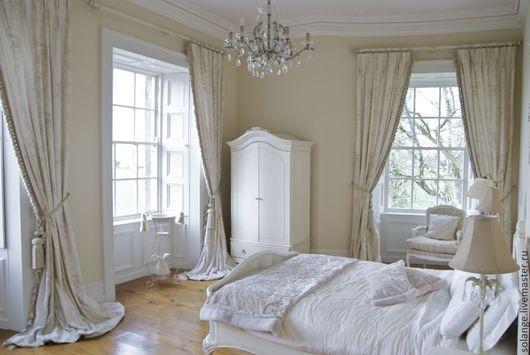 Текстиль, ковры ручной работы. Ярмарка Мастеров - ручная работа. Купить Комплект штор в спальню №4. Handmade. Белый